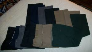 Vintage 1970s Men's Haggar and Wright Bell-Bottom Pants - Most 34/30 (East Aurora) for sale