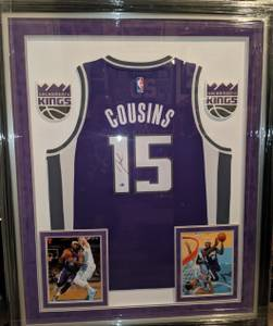 DeMARCUS COUSINS signed/framed Sacramento Kings jersey FANATICS (campbell) for sale