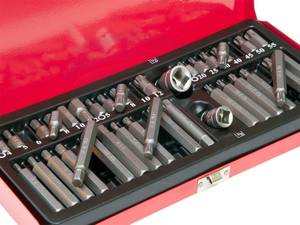 40pcs Socket Set 1/2 3/8 Adaptor Drive Hex Torx XZN Spline Star Bits (Richmond) for sale  Seattle