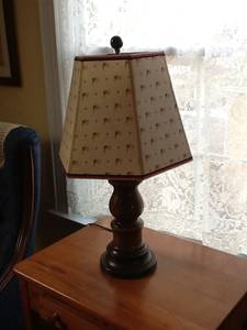 Wood Flag Theme Table Lamp for sale