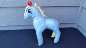 Used, Vintage Oil Cloth Stuffed Animal Horse Pony Baby Toy 1940s or 1950s (Tacoma) for sale