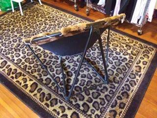 Bucket/saucer chair/brown check fur - furniture - by owner - sale