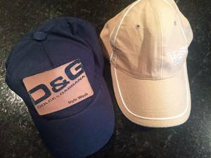 2 D&G Dolce & Gabbana Navy baseball cap hat Emporio armani (Downtown) for sale  Seattle
