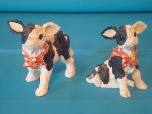 CUTE COW AND PIG FIGURINES! (Stewartstown-Fawn Grove Area), used for sale