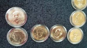 Uncirculated Gold Plated Presidential $1 Dollar Commemorative Coin (Spokane Valley) for sale
