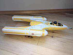 Star Wars The Clone Wars Y-Wing Y Bomber 2009 Disney Ship Vehicle (Bend) for sale