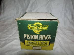 Qwik Seal Piston Rings Chevy 6 1934-36, Buick 1929, Studebaker 1938-39 (new providence, PA) for sale