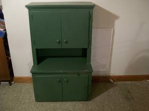 CHILD'S VINTAGE STEP-BACK COUNTRY CUPBOARD, used for sale