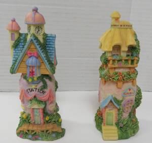 Miniature Bunny Rabbit  Station & School House Figurines (Trussville) for sale  Columbus