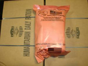 3 Humanitarian Daily Ration MRE 2013 inspect date taste good tested (Rapid City), used for sale