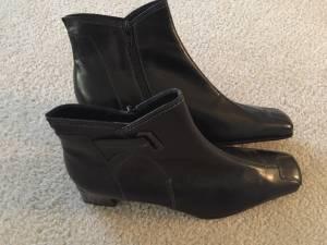 Used, Gabor Leather Ladies Black Ankle Boot (Never Worn) (ValVista & University) for sale  Phoenix