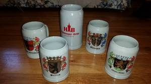 Lot of 5  German Beer Steins - Mugs (Betton hills) for sale  Columbus