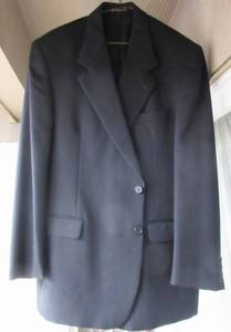 Blazer Gabardine Jacket Made in Canada 100% Wool Size L XL Black for sale  Seattle
