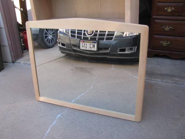 """New solid oak wall mirror--44""""l x 34.5""""w x 1""""d - furniture - by..."""