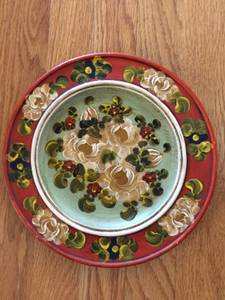 Used, Vintage Hand Painted Wood Plate from Berlin Germany (sw/close in) for sale  Seattle