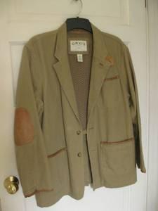 ORVIS Men\u2019s Safari Field Jacket w/Leather Elbow Patches - Lge (san rafael) for sale