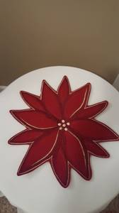 Lovely Poinsettia Charger Hot Plate Table Decoration (Ross Twp, PA) for sale