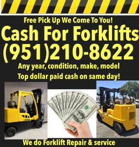 Cash for Forkifts + Heavy Equipment + Commercial trucks Vehicles (We pay the most guaranteed !!!!) for sale