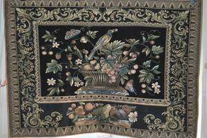 "Belgian / Flemish Tapestry - Aristolochia Leaves - 35"" x 26"" - 1960's (vancouver bc) for sale  Seattle"
