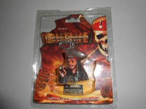 Disney Pirates of Caribbean Captain Jack Sparrow Keychain Key Chain (hadley) for sale  Boston