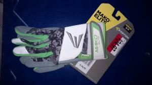 New Easton Mako Elite Batting Gloves- Small (Brandon) for sale