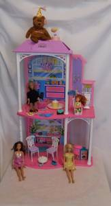 Barbie Happy Birthday Barbie Playhouse with Dolls Bear and Accessories (lake elsinore) for sale