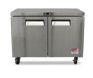 "Used, 48"" 2 DOOR WORK TOP UNDERCOUNTER FREEZER REFRIGERATOR RESTAURANT EQUIP (FREE DELIVERY) for sale  Boston"