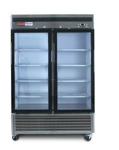 Glass door FREEZER refrigerator NEW restaurant equipment convenience (FREE DELIVERY) for sale  Boston