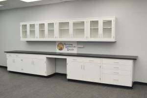 18' BASE 13' UPPER Laboratory Furniture Cabinets Case Work Benches (DALLAS) for sale