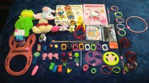Used, 54 small toys, stuffed animals, book, puzzle lot! (north dallas (ADDED) (MAKE OFFER)) for sale