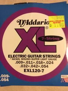 D'Addario 7 String Set (Nashville) for sale