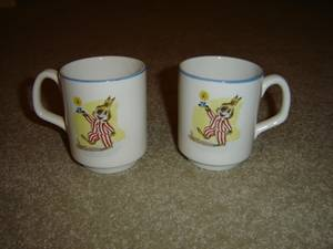 Used, Vintage Bunny Rabbit Cups, Lord Nelson Pottery , England (North Delta) for sale  Seattle