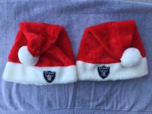 Vintage Oakland Raiders Santa Claus Hats (fremont / union city / newark), used for sale