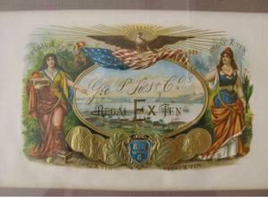 Cigar Label Art ~ REGAL EX TEN ~ Lithograph Embossed Framed (Windsor, California), used for sale