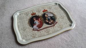Queen Elizabeth II Silver Jubilee (1952-1977) Serving Metal Tray (coquitlam center) for sale