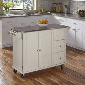 Kitchen Cart with Stainless Steel Top for sale