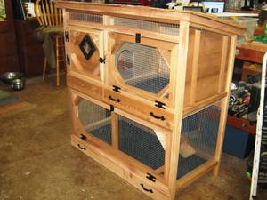All Cedar Rabbit Hutch With Enclosed Run (Beaverton) for sale  Seattle