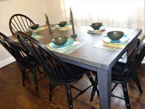 Timber Home Furnishings Reclaimed Oak Thick Top Farm Tables & Islands (5 Points in Aston) for sale
