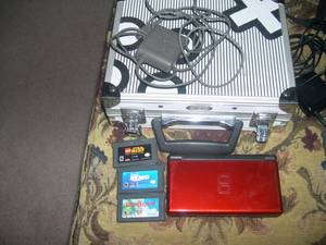 Used, Nintendo DS Lite w/ 3 games, case and charger (pickerington) for sale