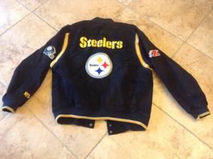 Steelers Leather Jacket, Mug and Sign (Homestead, Fl.) for sale