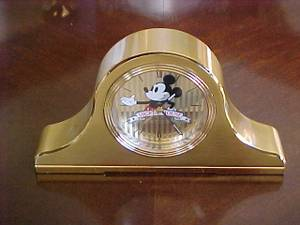 1988 Seiko Mickey Mouse Brass Mantel Alarm Clock (Bangor) for sale  Boston