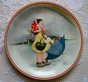 Mabel Lucie Attwell Plate RAINBOWS (Frankford Ave., Baltimore), used for sale