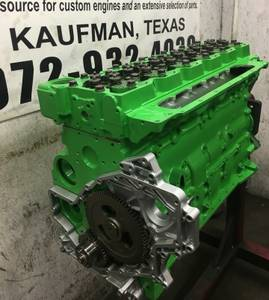 Re manufactured 5.9, 6.7 Cummins Diesel Engine Long Blocks (Kaufman) for sale