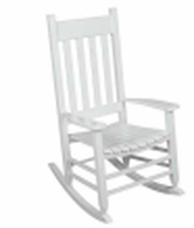 White wooden rocker (new in box) - furniture - by owner - sale
