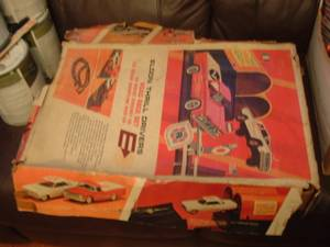 Used, Slotcars Eldon 1-32nd scale race car track and sets mid 60s Lot (hyattsville MD.) for sale