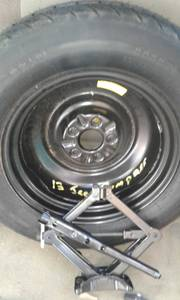 Used, 2013 Jeep Compass Spare tire and jack assembly (valley center) for sale