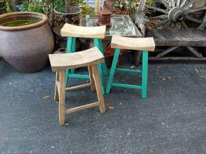 Reclaimed Wood Saddle Seat Bar Stools-Different Heights Available!, used for sale