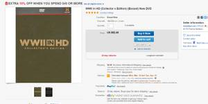 WWII in HD Collector's Edition Boxset Blue-Ray 4 DVDs, used for sale  Vancouver