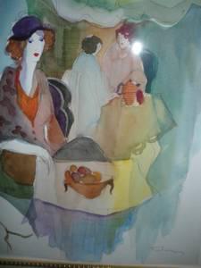 Used, ORIGINAL Tarkay Watercolor Painting (Sandy Springs, GA) for sale  Columbus