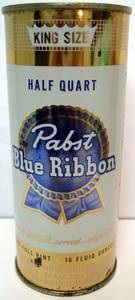 Pabst Blue Ribbon Half Quart Pint 16 Oz TAPACAN Milwaukee Wisconsin WI (Cranberry) for sale